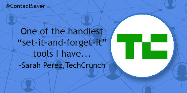 ContactSaver News: We're Featured on TechCrunch!
