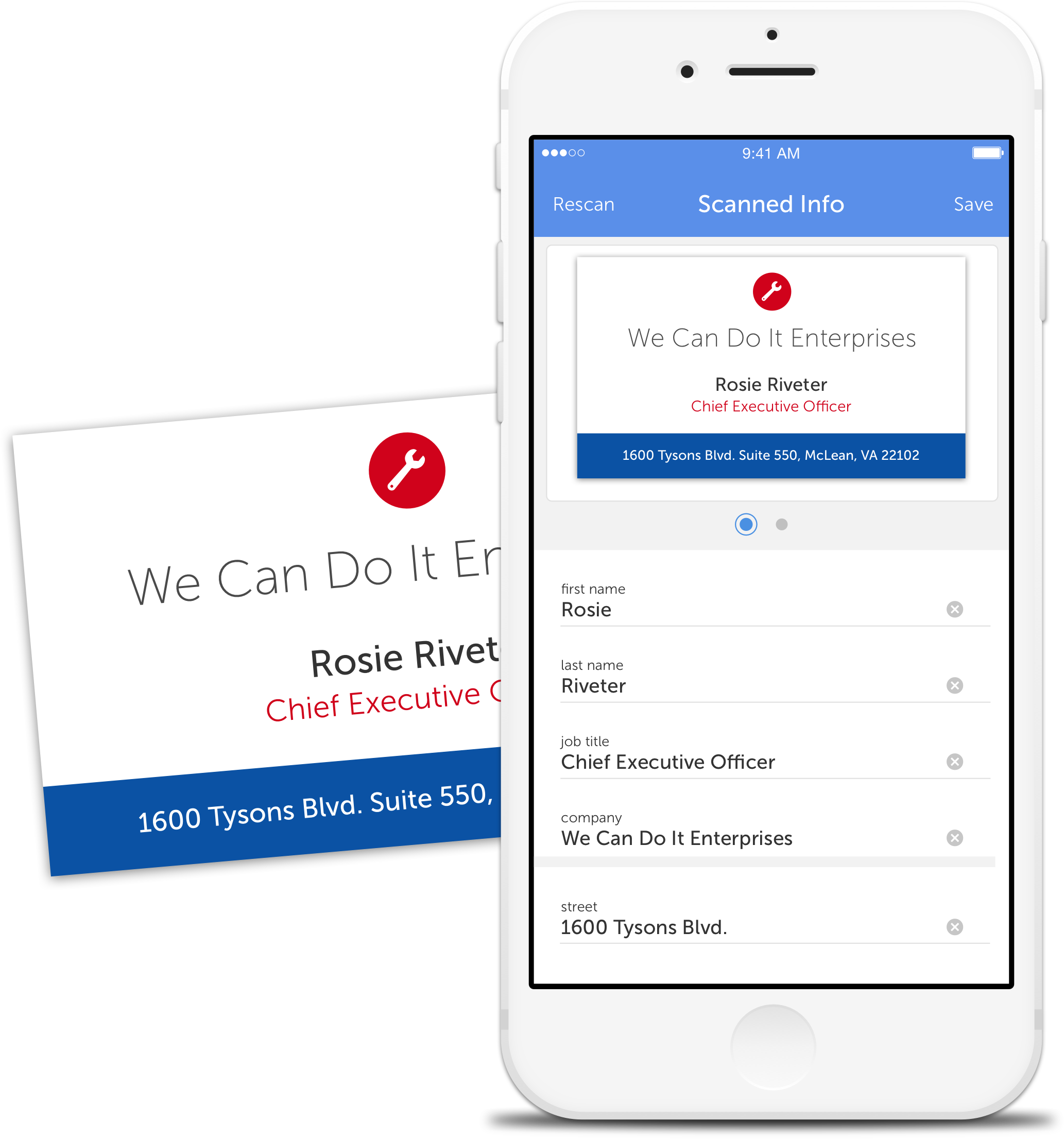 Contact management app for business professionals download business card scanning reheart Choice Image