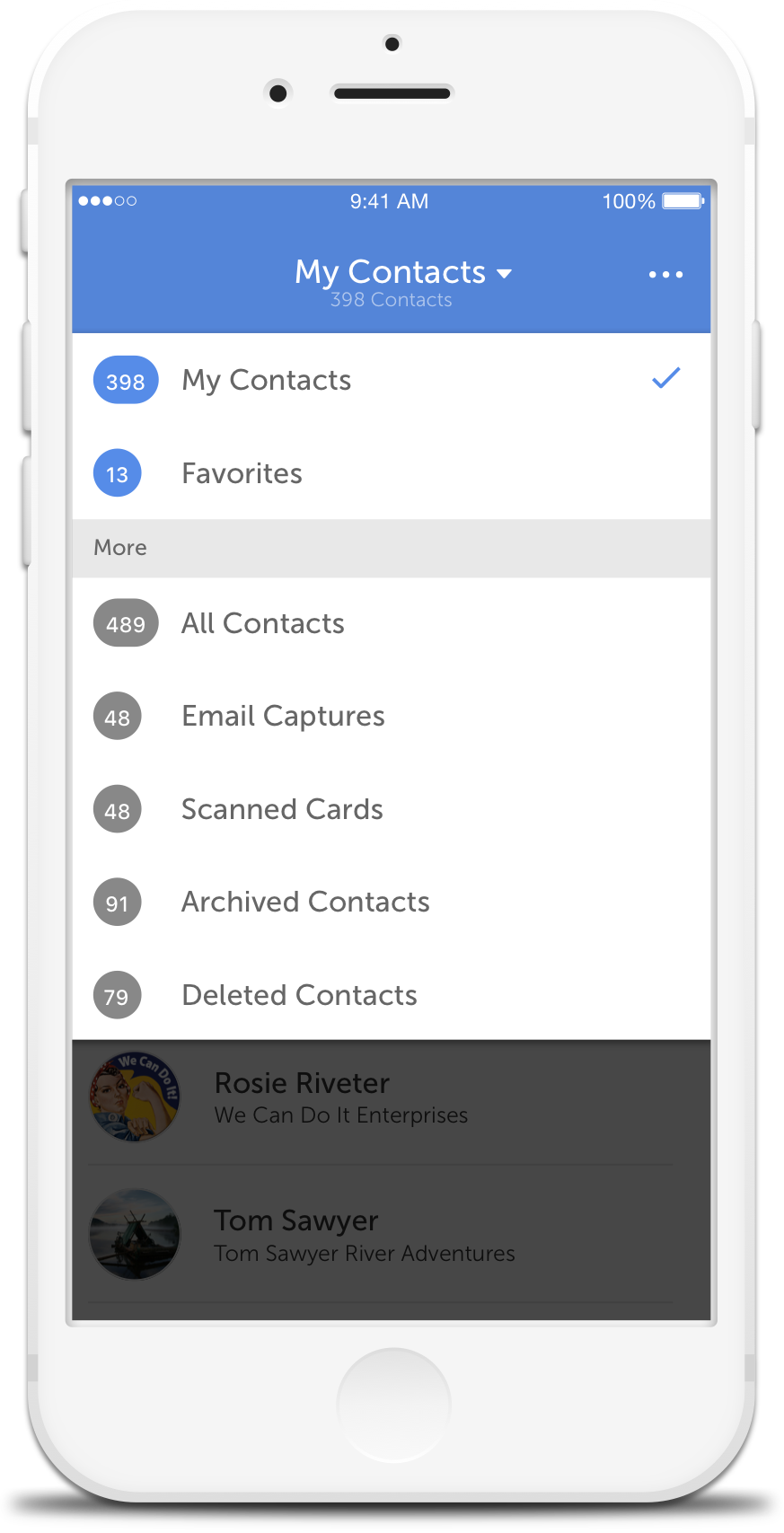 CircleBack - Address Book & Contact List and Groups