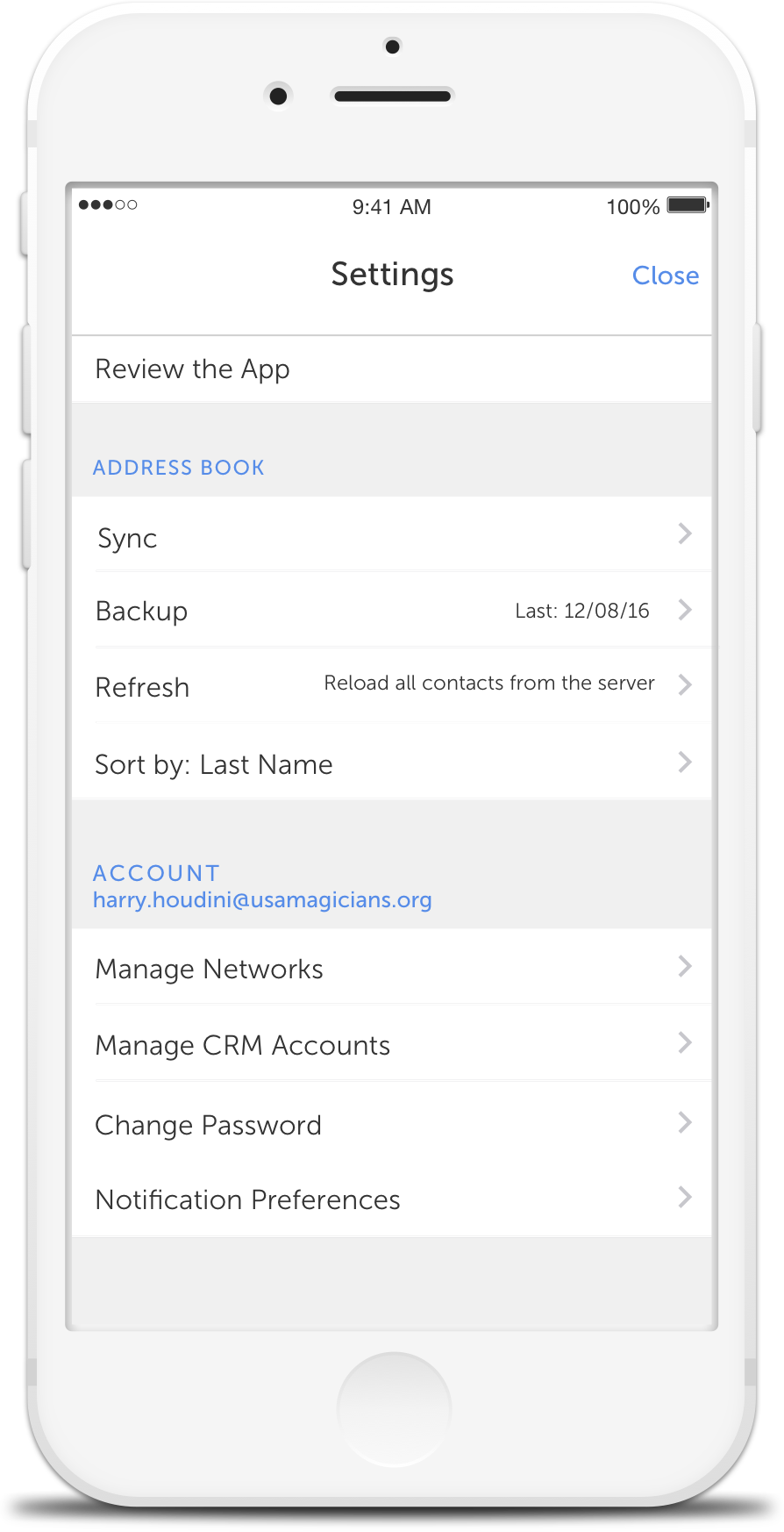 CircleBack - Address Book & Contact Backups, Sync, Sorting, Export to CRM